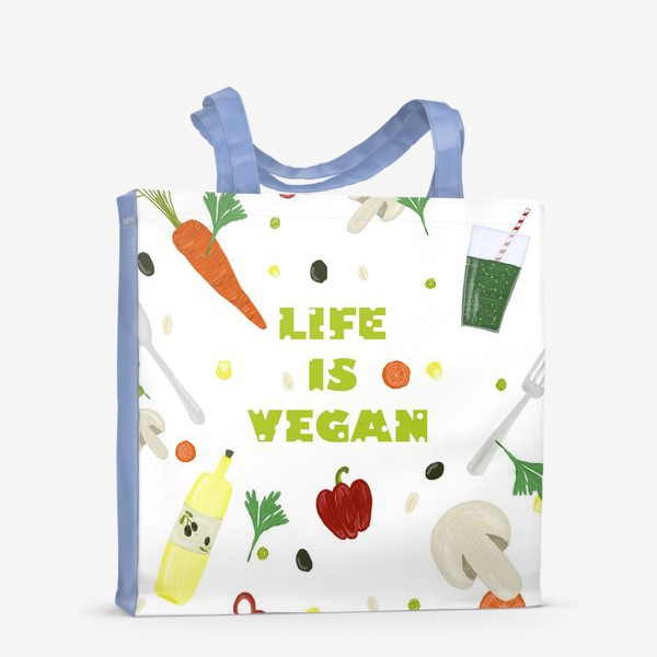 Сумка-шоппер «life is vegan»