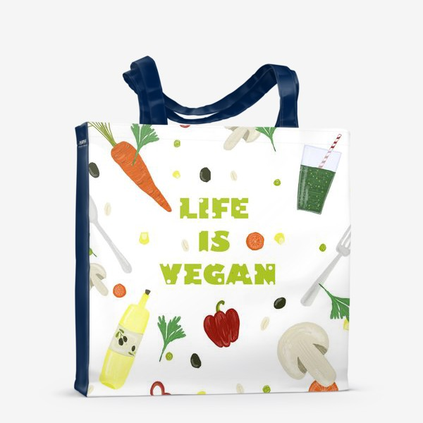 Сумка-шоппер «life is vegan»
