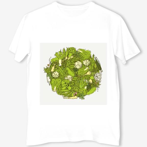 Футболка «Зеленый букет для веганов»