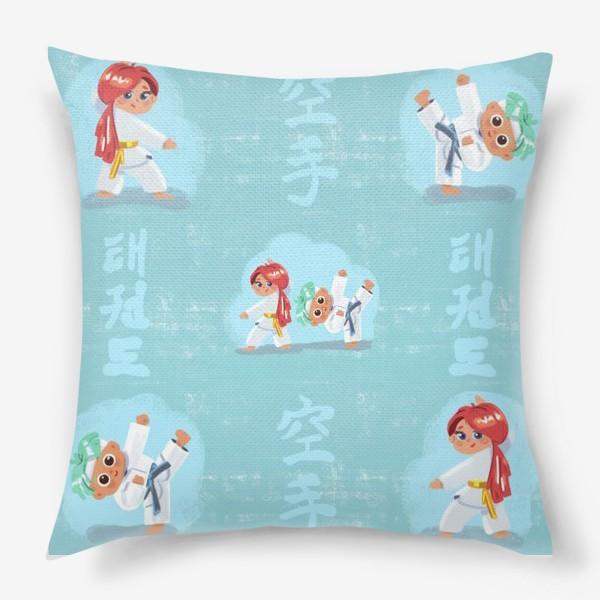 Подушка «Карате и тхеквондо»