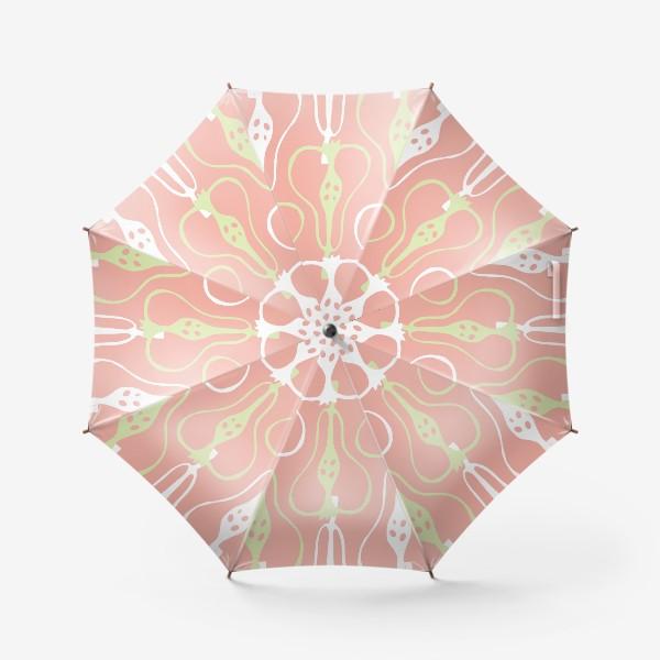 Зонт «Силуэтные груши на розовом фоне. Паттерн»