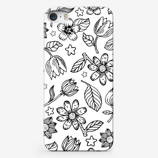 Чехол iPhone «Легкий цветочный узор»