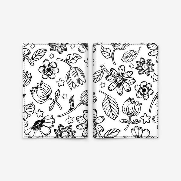 Обложка для паспорта «Легкий цветочный узор»