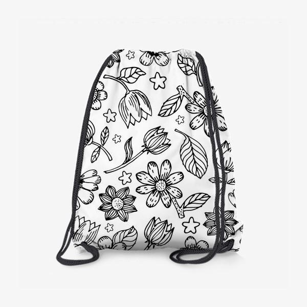 Рюкзак «Легкий цветочный узор»