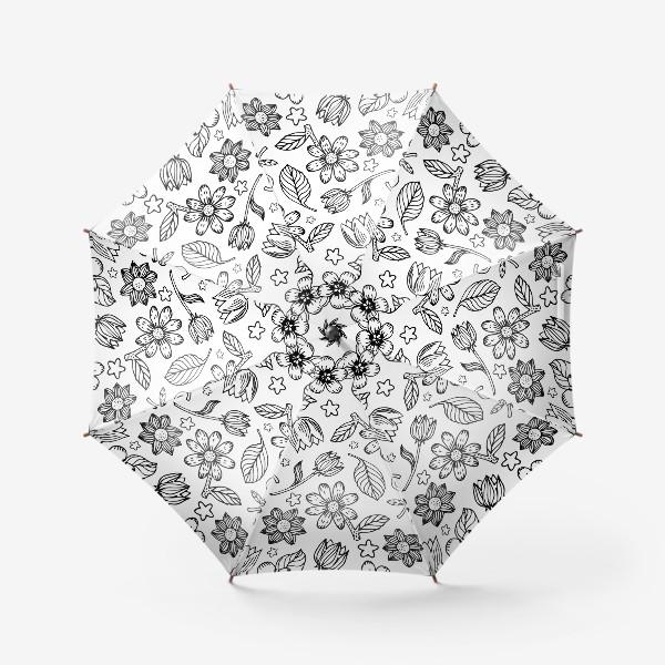 Зонт «Легкий цветочный узор»