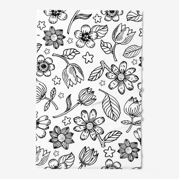 Полотенце «Легкий цветочный узор»