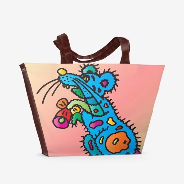 Пляжная сумка «Год Мыши 2020 от Виктории Дерегус_01»