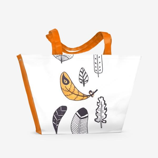 Пляжная сумка «Перья с акцентом»