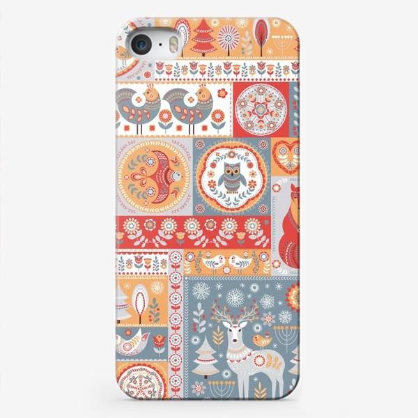 Чехол iPhone «Декоративные мотивы в фольклорном стиле.»
