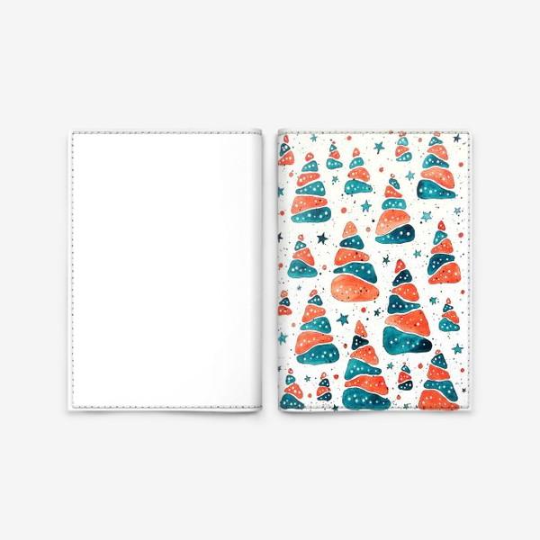 Обложка для паспорта «Ёлочки новогодние»