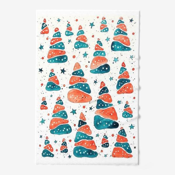 Полотенце «Ёлочки новогодние»