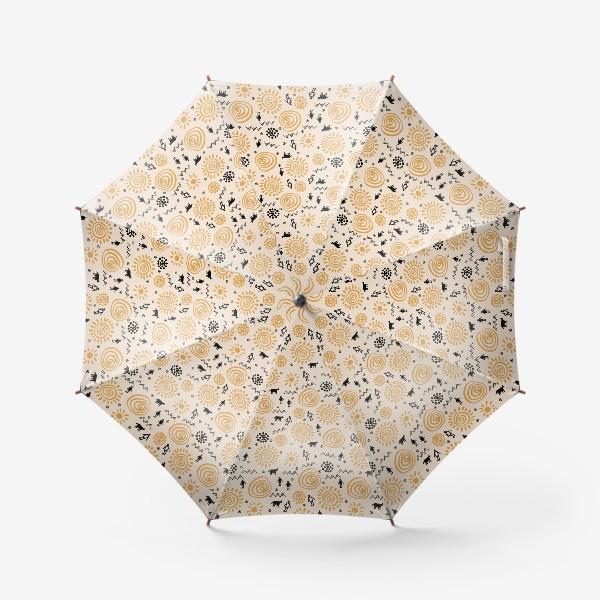 Зонт «Паттерн с племенными узорами»