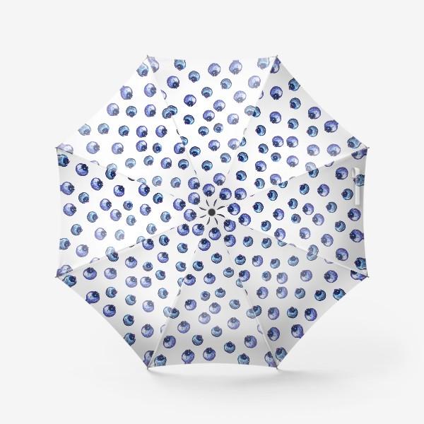 Зонт «Паттерн с черникой»