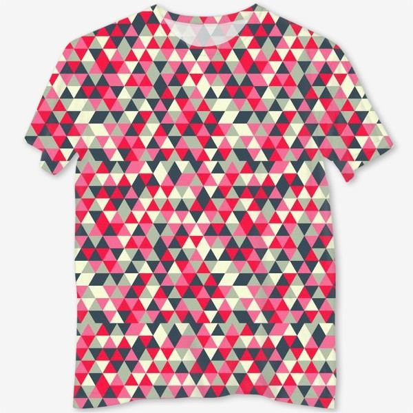 Футболка с полной запечаткой «Pattern design with abstract elements»