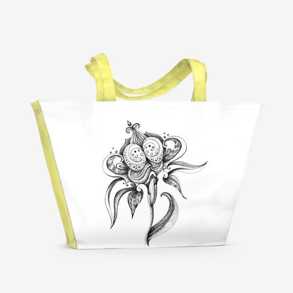 Пляжная сумка «цветок»