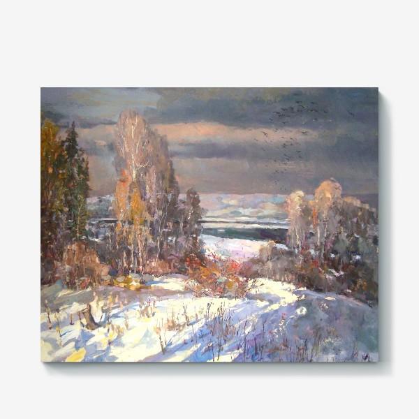 Холст «Зима будет снежной»