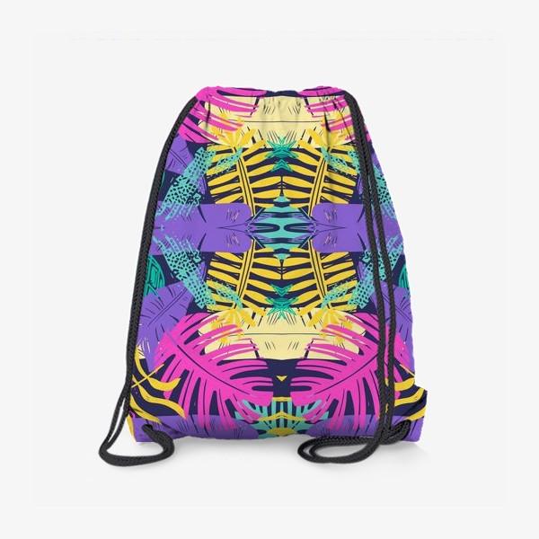 Рюкзак «Тропический узор с листьями»