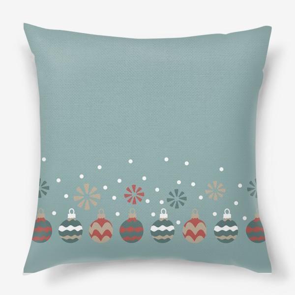 Подушка «Новогодние шары»