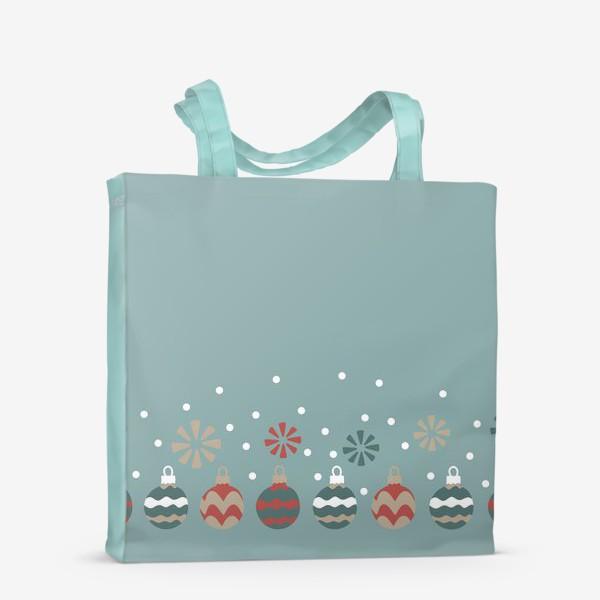 Сумка-шоппер «Новогодние шары»