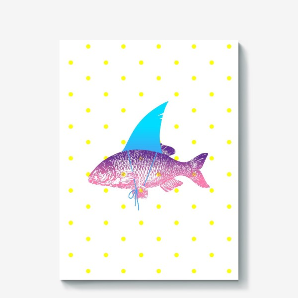 Холст «рыба с акульим плавником. Хышник. »