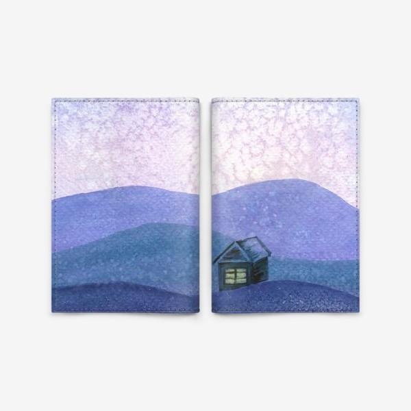 Обложка для паспорта «Зимний пейзаж»