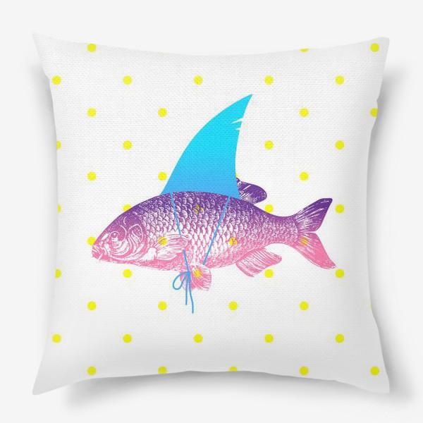 Подушка «рыба с акульим плавником. Хышник. »