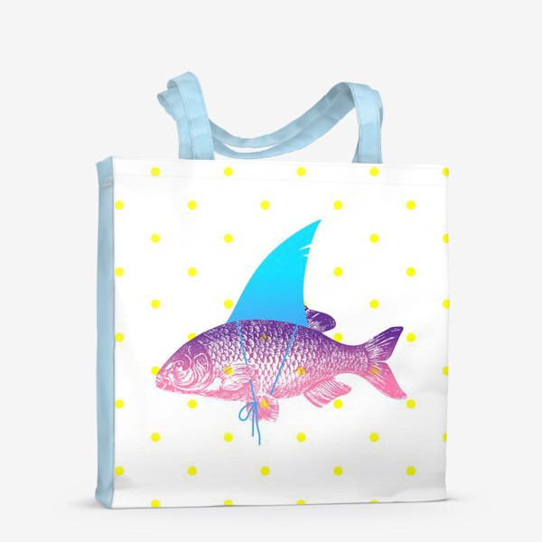 Сумка-шоппер «рыба с акульим плавником. Хышник. »