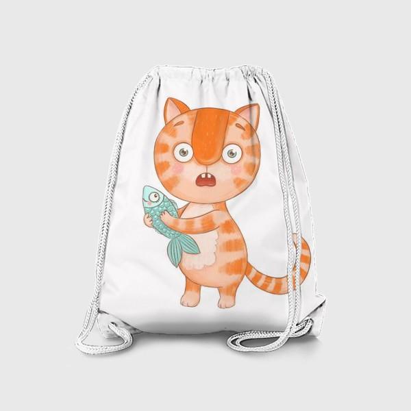Рюкзак «Котик Кексик удивлен»
