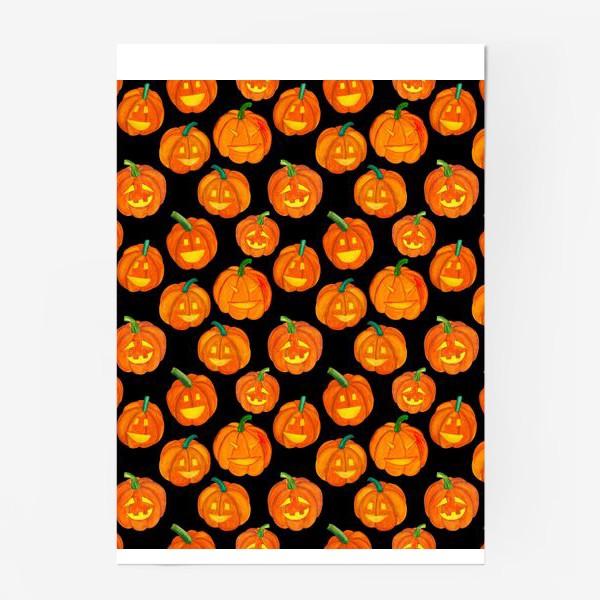 Постер «Паттерн хеллоуиновские тыквы»