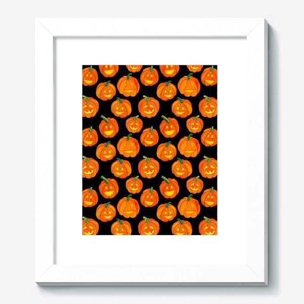 Картина «Паттерн хеллоуиновские тыквы»
