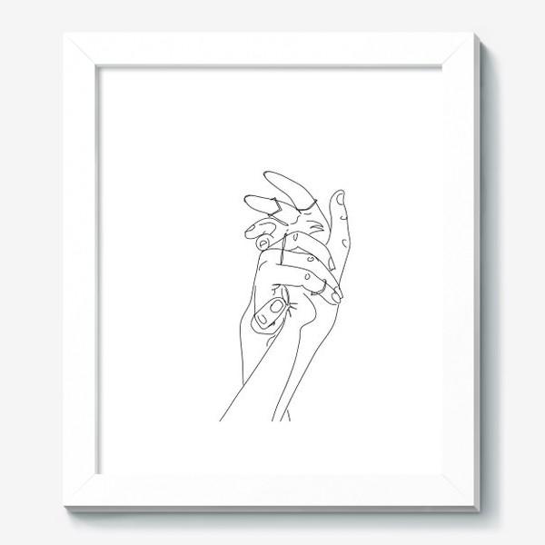 Картина «Руки с кольцами. Скетч»