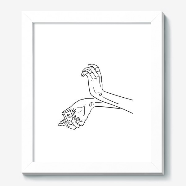 Картина «Женские руки. Скетч»