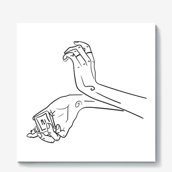 Холст «Женские руки. Скетч»