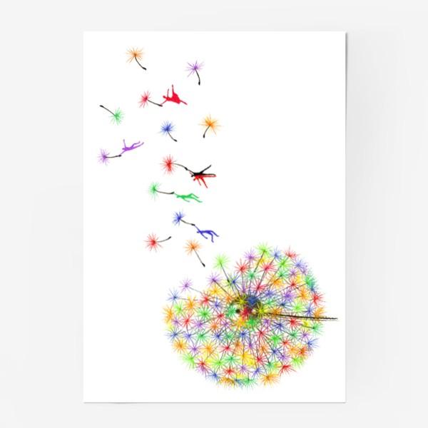 Постер «Радужный одуванчик»