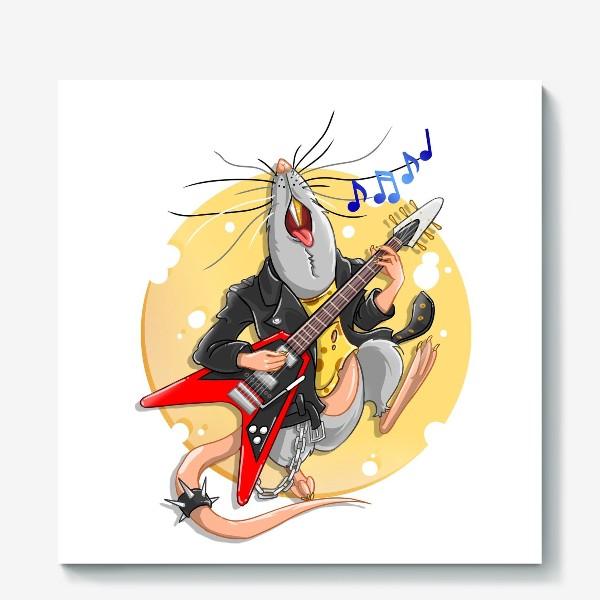 Холст «металлическая крыса »