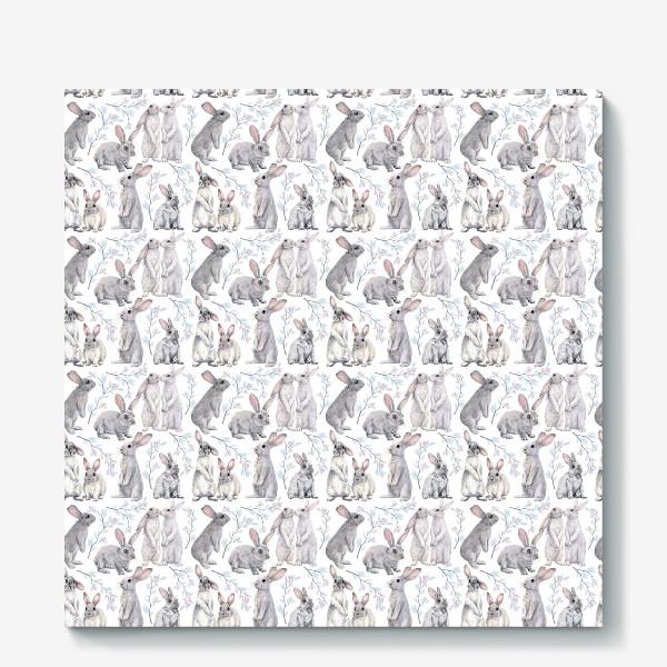 Холст «Кролики .Паттерн»