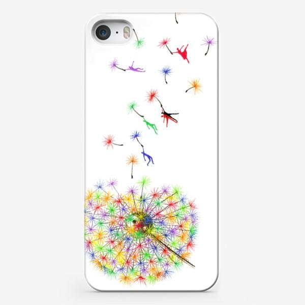 Чехол iPhone «Радужный одуванчик»