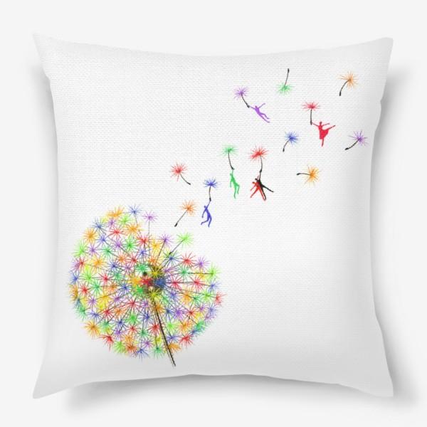 Подушка «Радужный одуванчик»