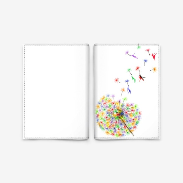 Обложка для паспорта «Радужный одуванчик»