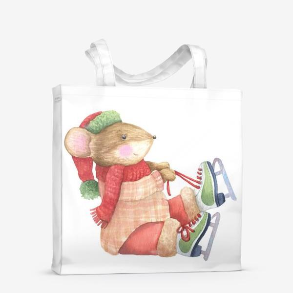 Сумка-шоппер «Мышка собирается на каток»