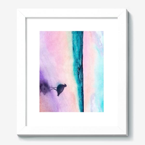 Картина «Чайка на море на закате»