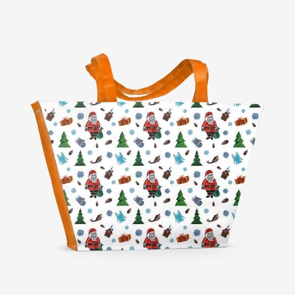 Пляжная сумка «Такой Санта»
