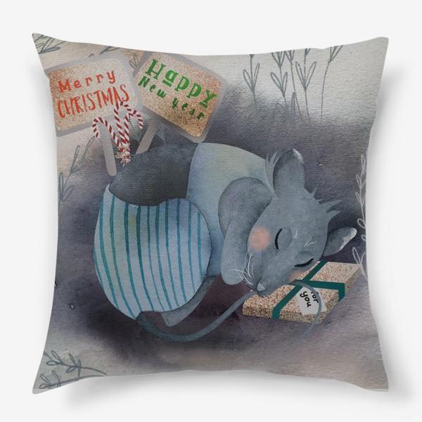 Подушка «Спящий мышонок»