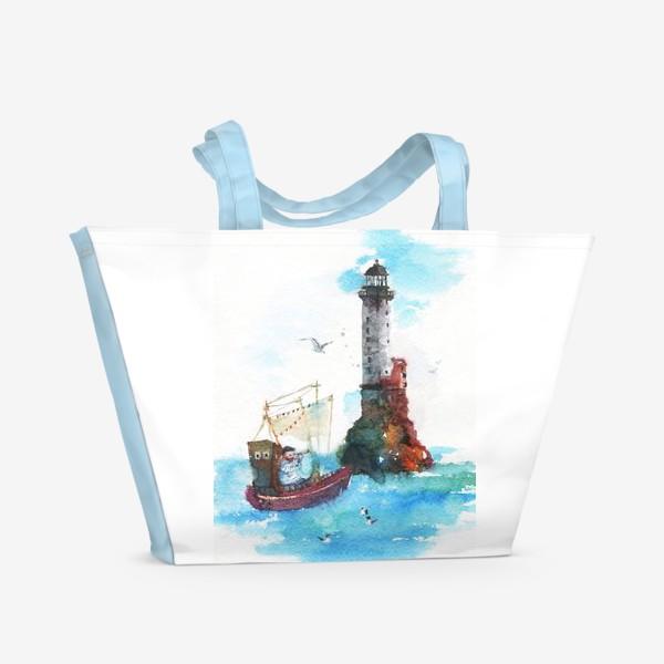 Пляжная сумка «Солёная песня. Маяк.»