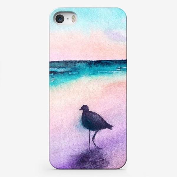 Чехол iPhone «Чайка на море на закате»