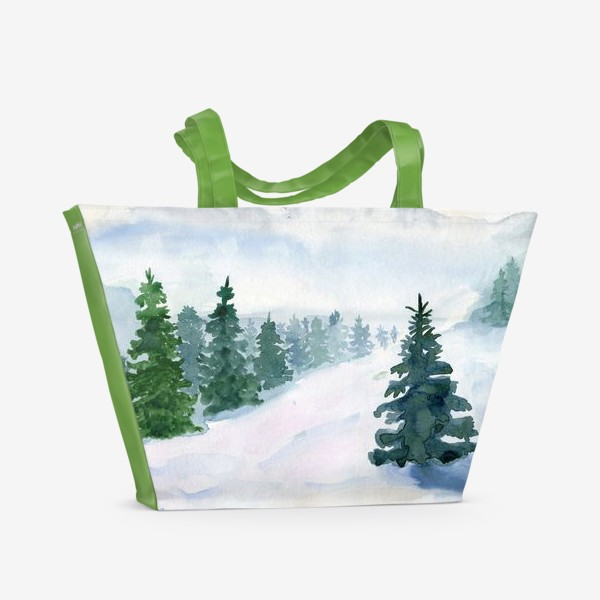 Пляжная сумка «Winter fairy tale»