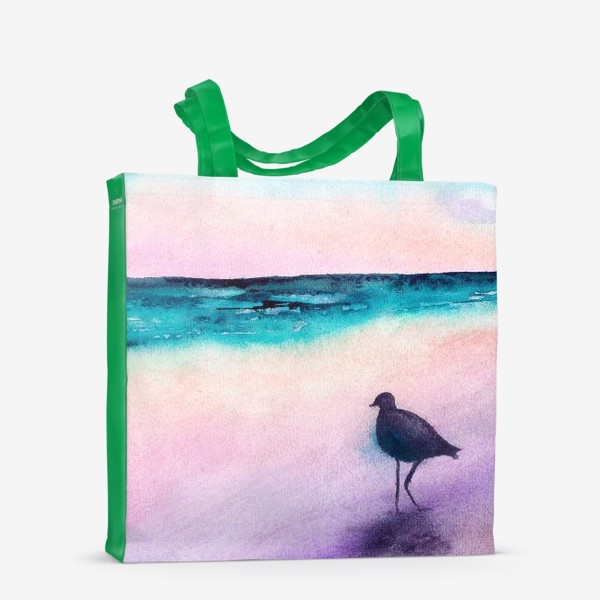 Сумка-шоппер «Чайка на море на закате»