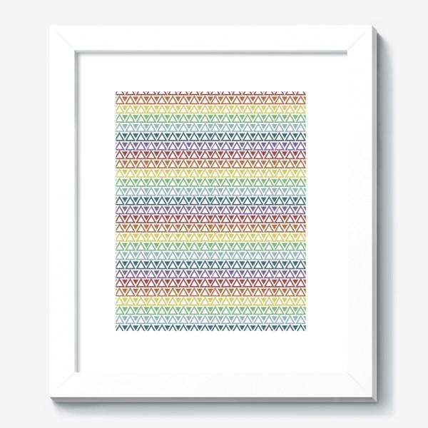 Картина «Абстрактный паттерн из разноцветных треугольников»
