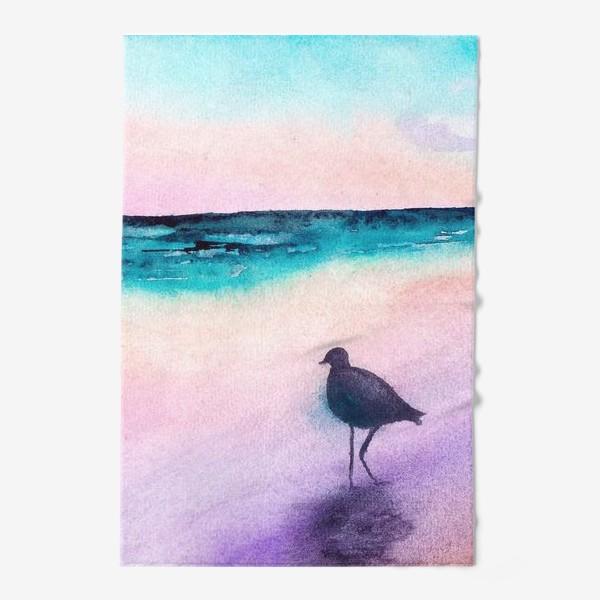 Полотенце «Чайка на море на закате»
