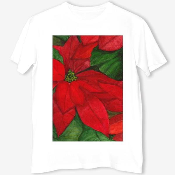 Футболка «Рождественский цветок»
